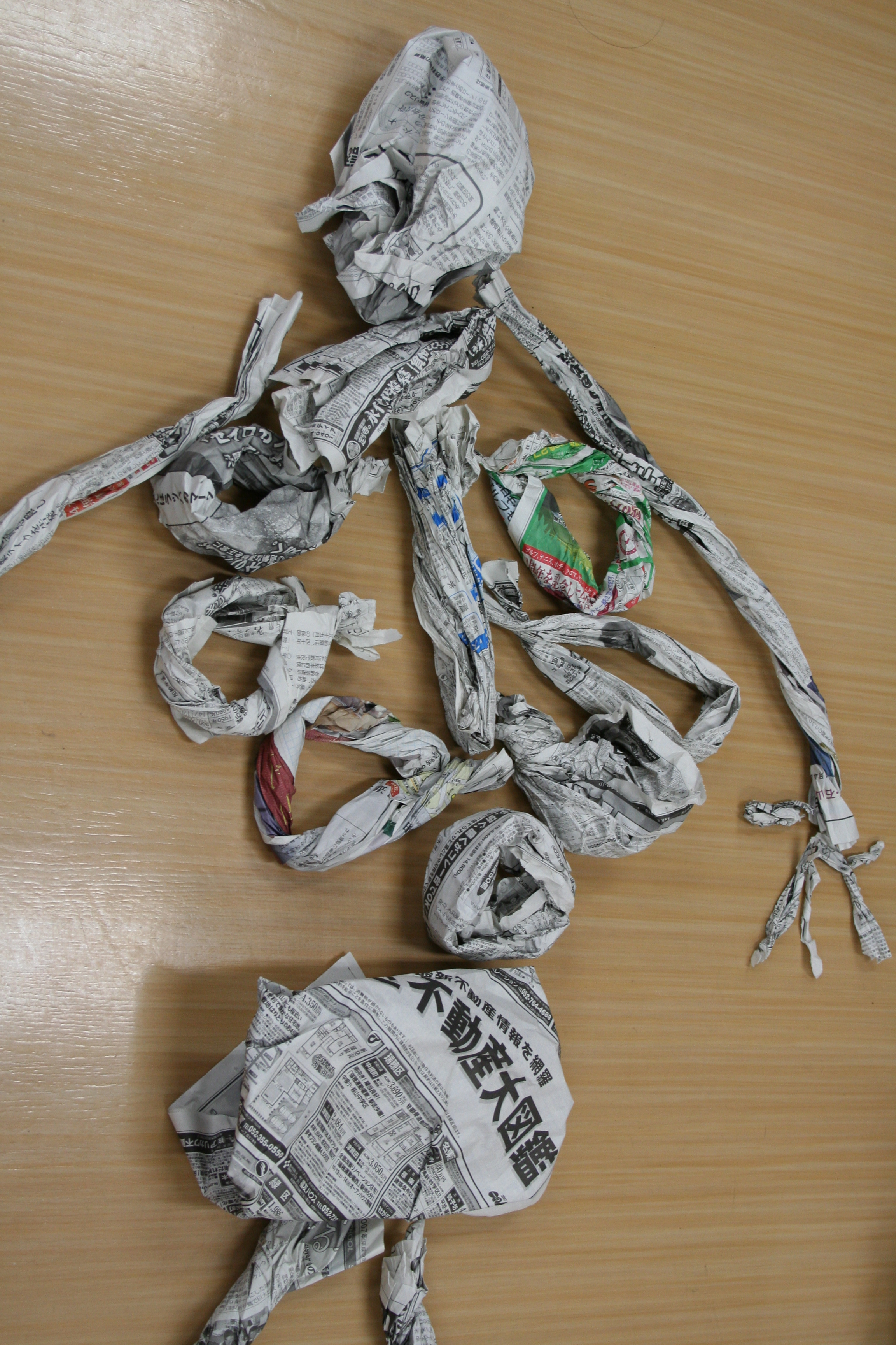 Halloween Newspaper Skeleton Craft